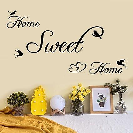Adesivi Murali Home Sweet Home.Tophappy Wall Stickers Frasi Famiglia In Inglese Home Sweet Home Removibile Impermeabile Adesivi Murali Adesivo Da Parete Per Salotto Famiglia Arte Murale Home Decor Amazon It Fai Da Te