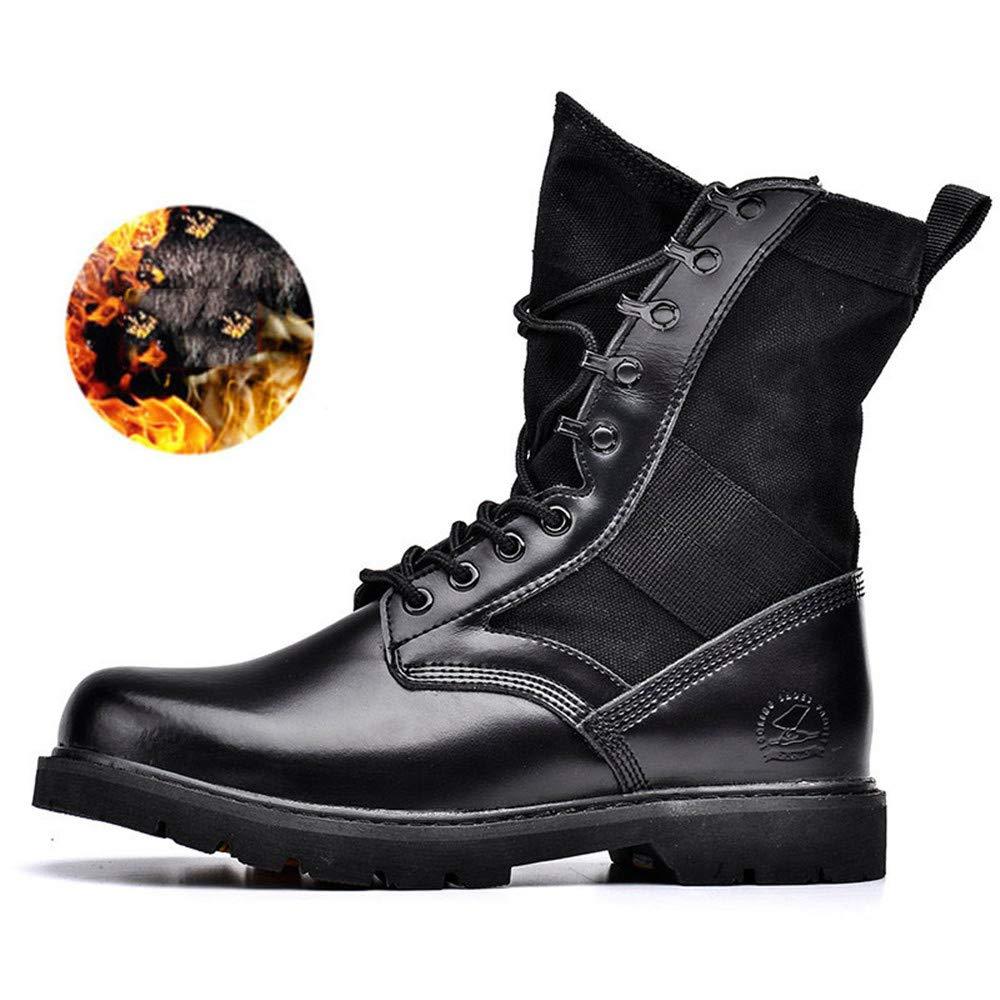 Stiefel de Nieve de los herren Stiefel tácticas Militares para Hombre Stiefel de com schwarz