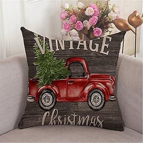 Amazon.com: Alicia Haines rojo camión Árbol de Navidad Sofá ...