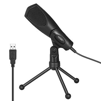LESHP USB Verdrahtete Kondensatormikrofon, Studio Broadcasting ...