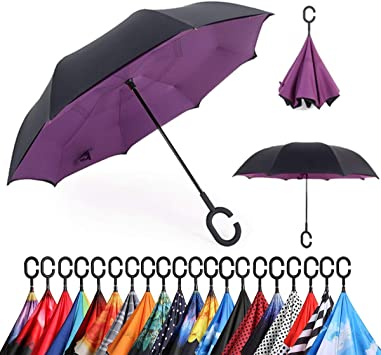 Double Layer Inverted Inverted Umbrella Is Light And Sturdy Happy Mothers Day Womens Day Valentines Reverse Umbrella And Windproof Umbrella Edge Nigh