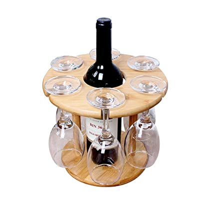 btibpse bambú mesa copas de vino estante estante de secado para encimera y al aire libre