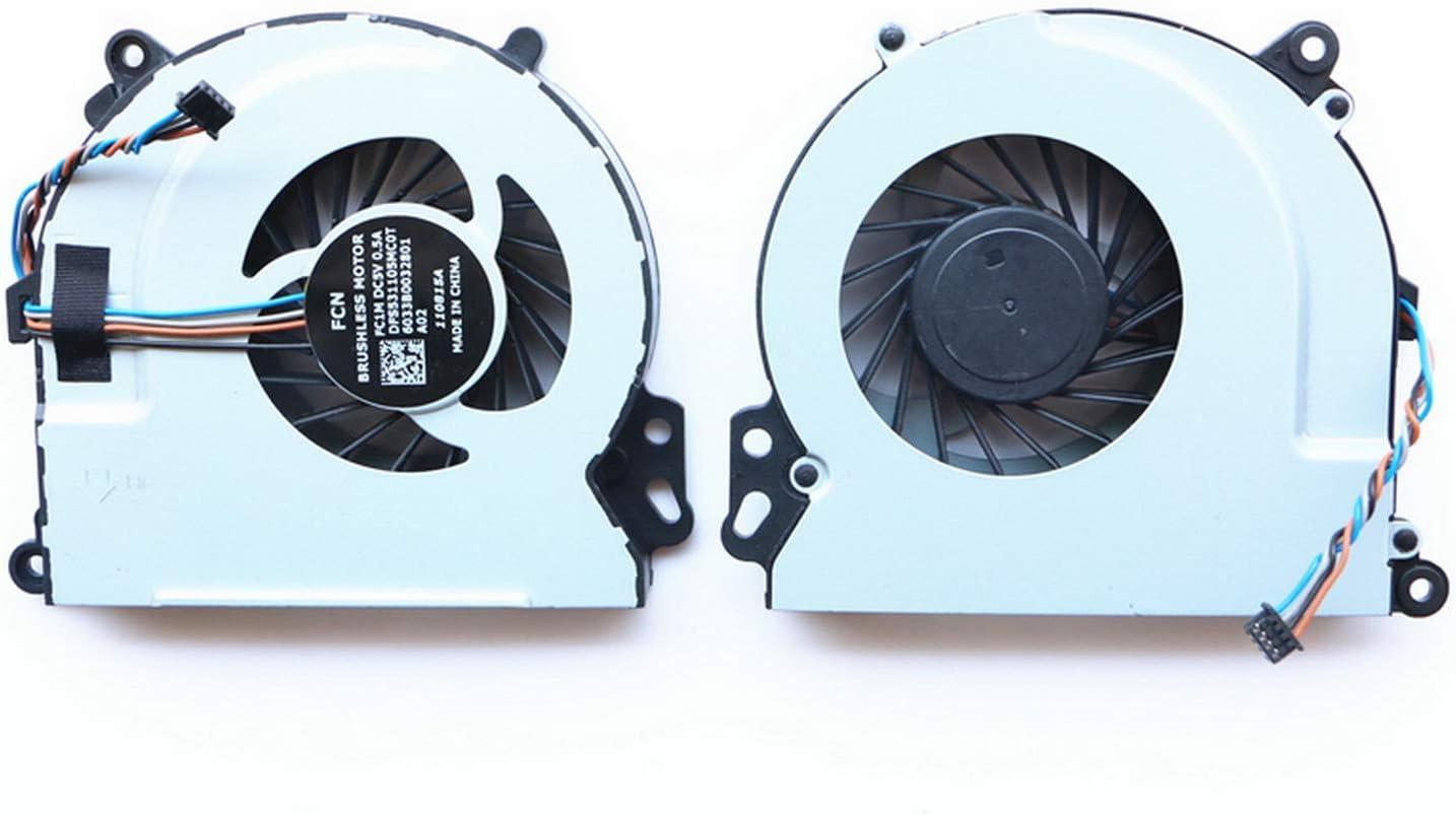 Todiys CPU Cooling Fan for HP Envy 15-J 17-J M6-N M7-J Sereis 15-J011DX 15-J053CL 15-J185NR 17-J073CA 17-J083CA 17-J137CL 17-J141NR M6-N010DX M6-N113DX M6-N168CA M7-J010DX M7-J120DX 720539-001