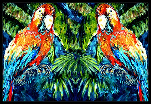 "Caroline's Treasures Parrots Yo Mama Indoor or Outdoor Mat 24x36 MW1216JMAT, 24"" x 36"", Multicolor from Caroline's Treasures"