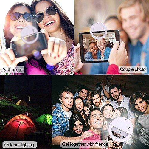 Leagoo T5 (weiß) Klipp auf Selfie Ring-Licht [Große Fotografie] mit 36 ??LED für intelligente Telefon Kamera runde Form, durch I-Tronixs Selfie Light Ring (White)