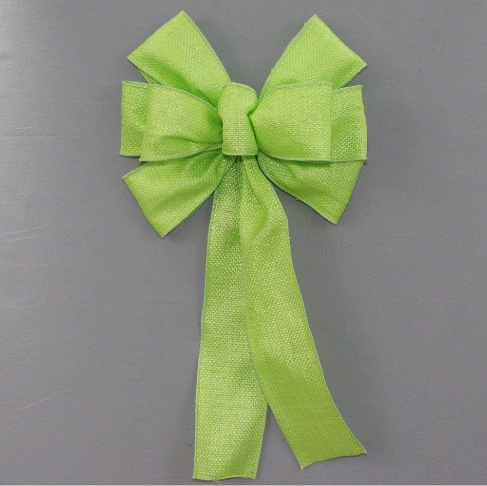 Lime Green Woven Outdoor Bow - 9