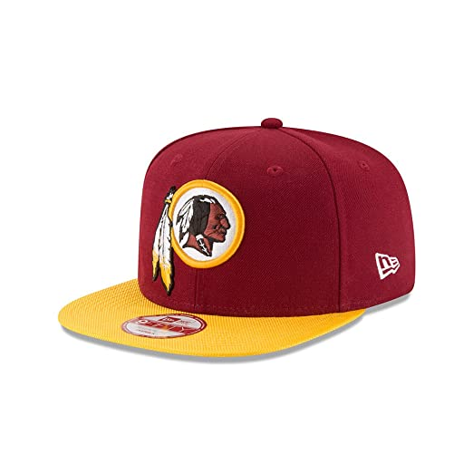 9f5ce999892 New Era Men s NFL 2016 Redskins 9Fifty Sideline Snapback Hat Maroon Yellow Size  One Size