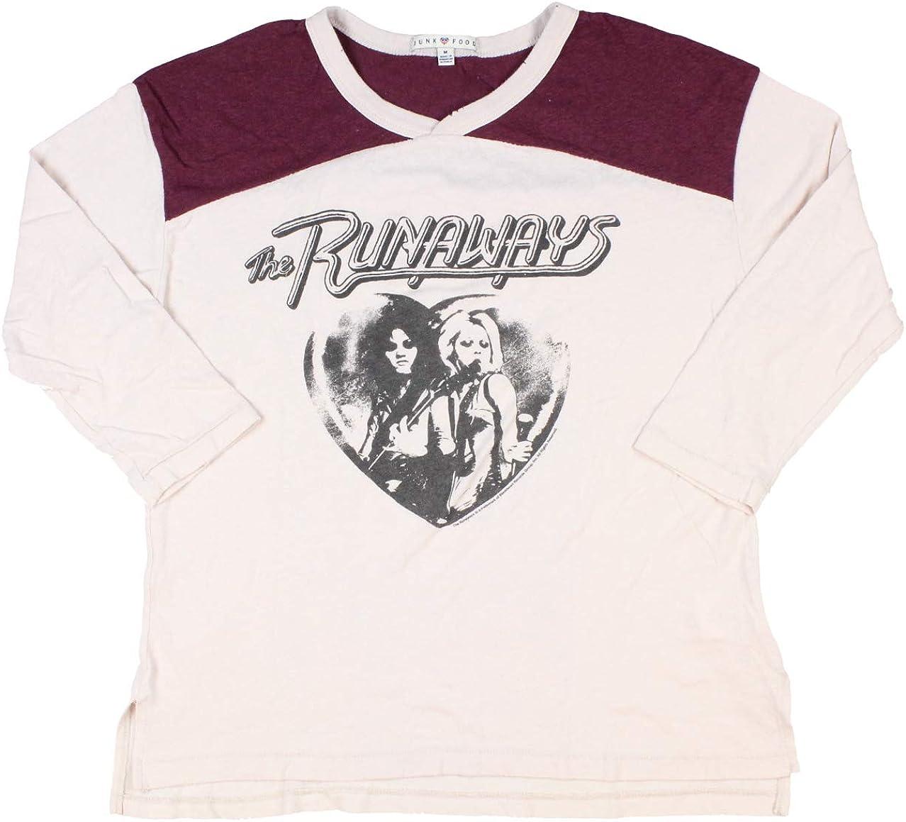 Junk Food The Runaways Junior's All-American Rock Band Vintage T-Shirt