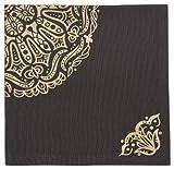 Now Designs Napkins, Set of Four, Mandala Print Black