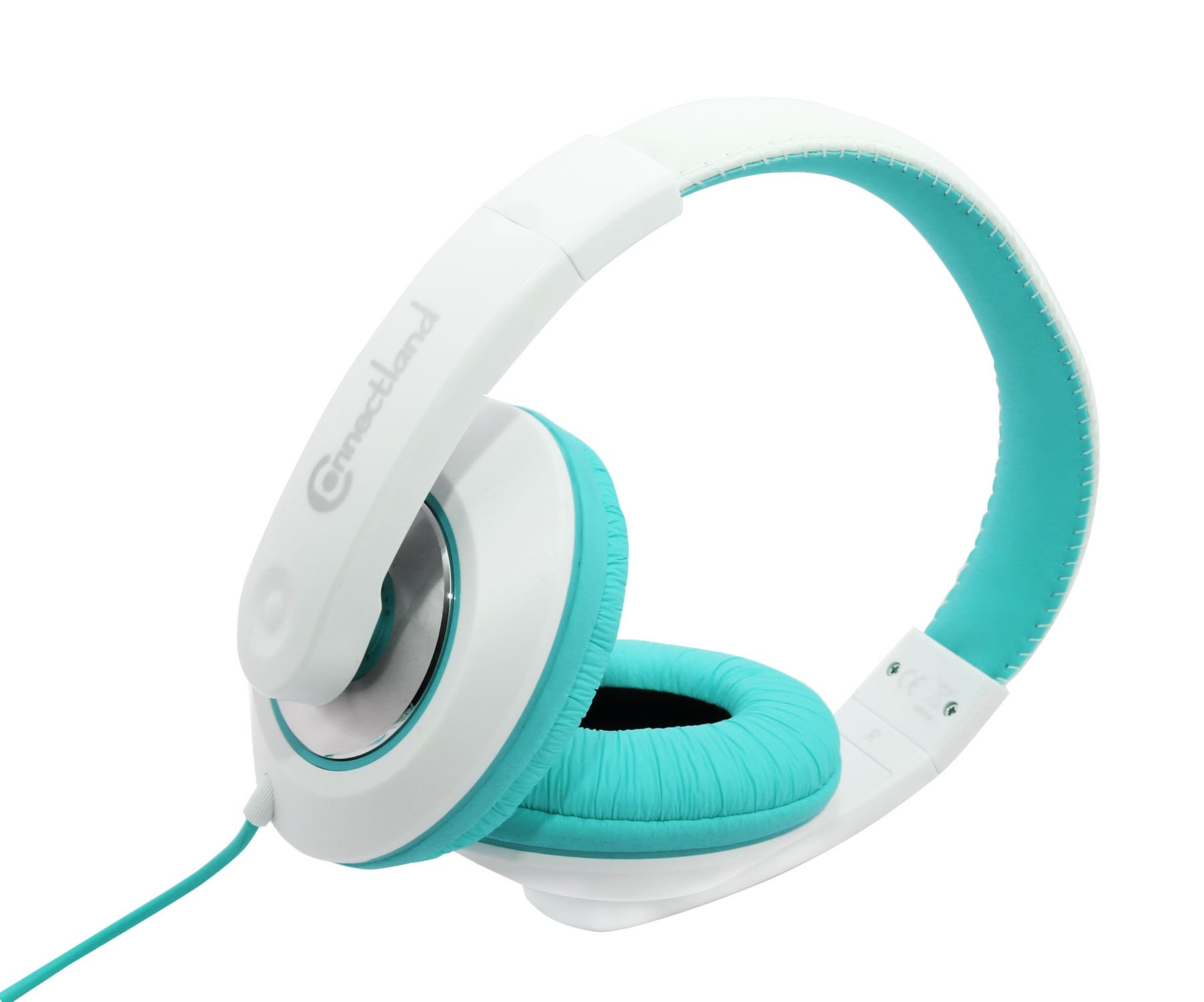Connectland Stereo Wired Headphone & Microphone Lightweight 40mm Speaker Music Gaming Stylish Teal CL-AUD63035 by Connectland (Image #3)
