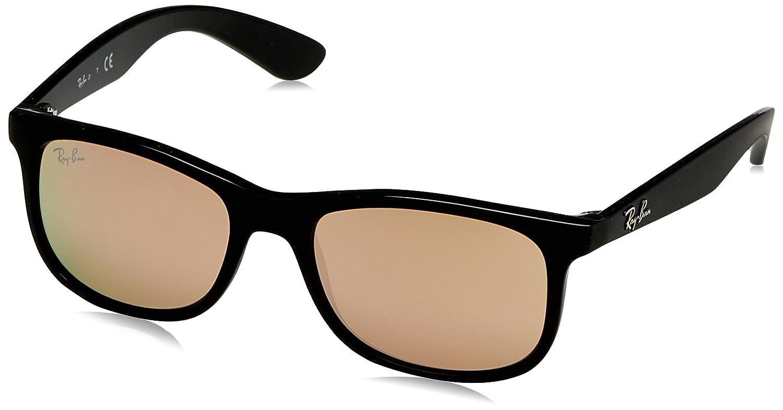 Ray-Ban Junior Gafas de sol Wayfarer en espejo de cobre negro mate RJ9062S 70132Y 48