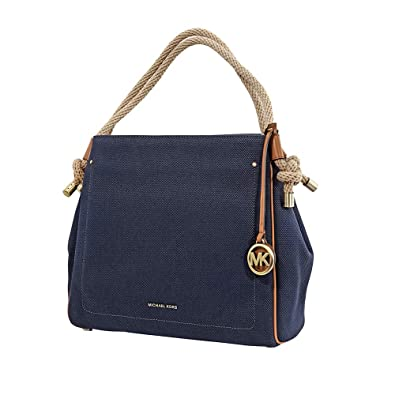 7e1101b50e86 Amazon.com: Michael Kors Isla Grab Large Bag (Admiral): Shoes