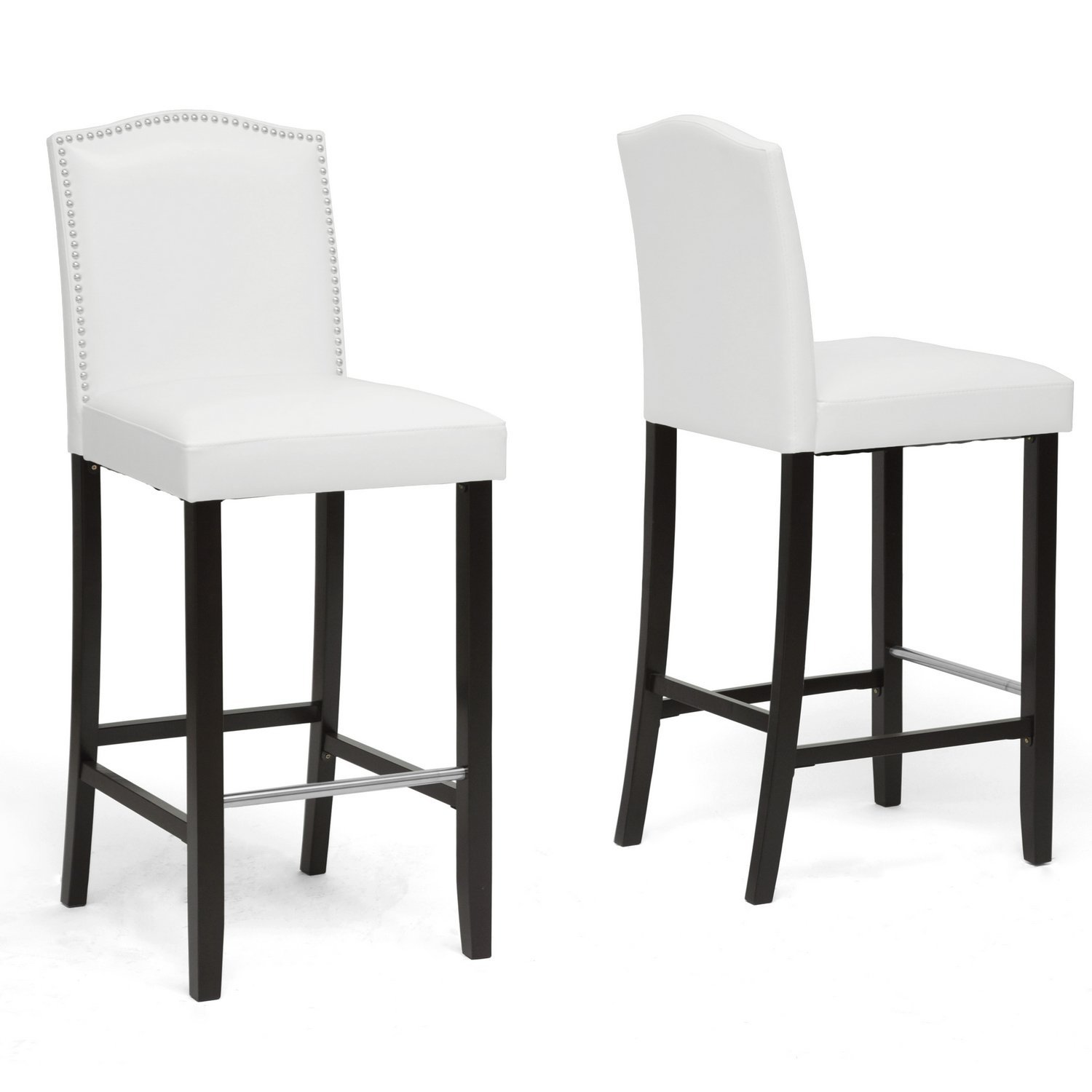 Amazon Baxton Studio Libra Modern Bar Stool with Nail Head