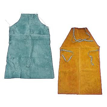 Homyl 2x Delantal Resistente Calor y al Fuego Delantal Soldador nisex para soldadura eléctrica, corte, vertidov: Amazon.es: Jardín