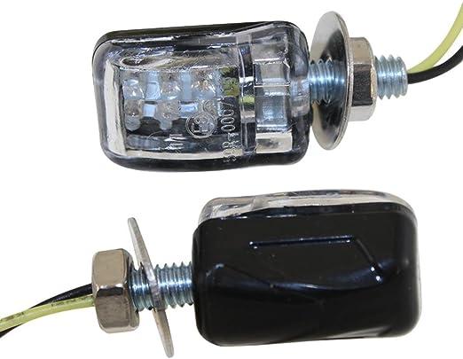 Led Mini Blinker M6 Klein Schwarz Klar E Geprüft Für Simson Ktm Triumph Peugeot Honda Yamaha Suzuki Citomerx Auto