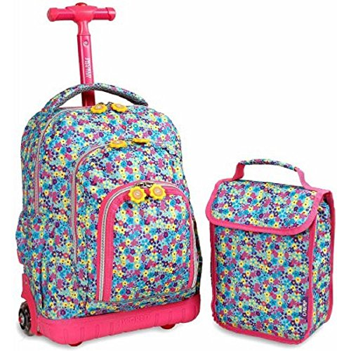 j-world-lollipop-rolling-with-cushioned-shoulder-straps-and-lunch-bag-floret