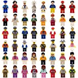 Minifigures Community People Family Figures Set -12pcs - No Need Assembled - for Preschool-Sized Building Sets 100% Compatible Building Blocks