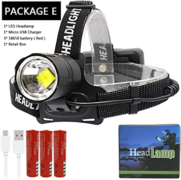 50000LM Zoomable 3 Modes T6 LED Headlamp Headlight Flashlight Head Torch Lamp