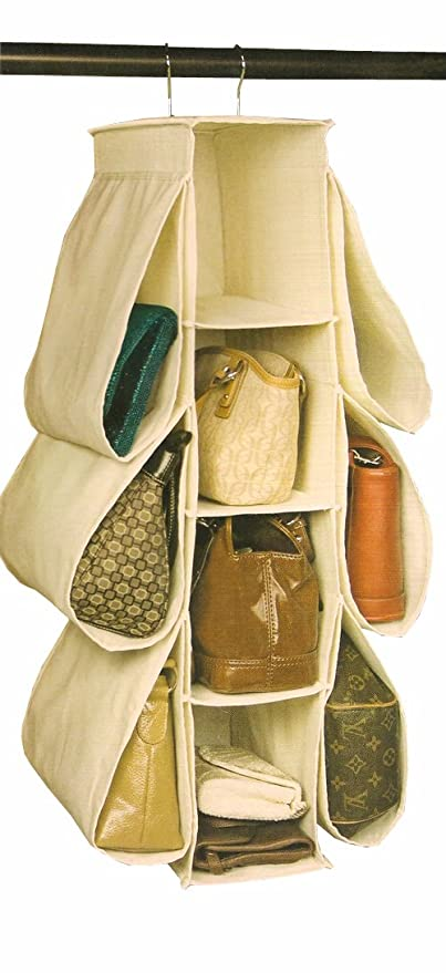 Amazon richards homewares hanging handbag organizer canvas richards homewares hanging handbag organizer canvasnatural solutioingenieria Choice Image