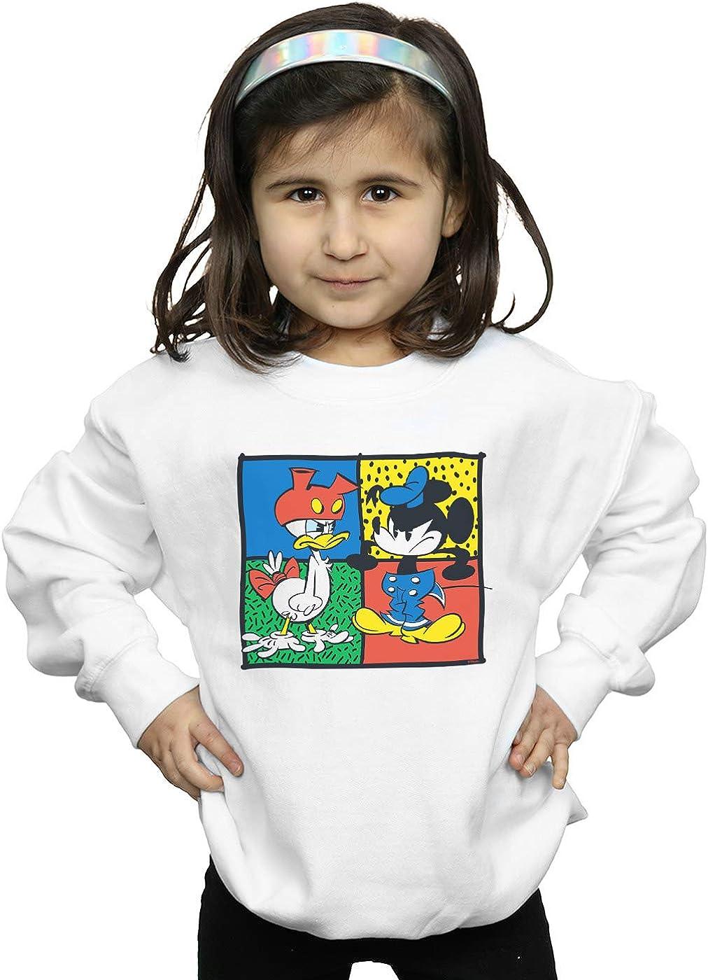Disney Girls Mickey Mouse Donald Clothes Swap Sweatshirt