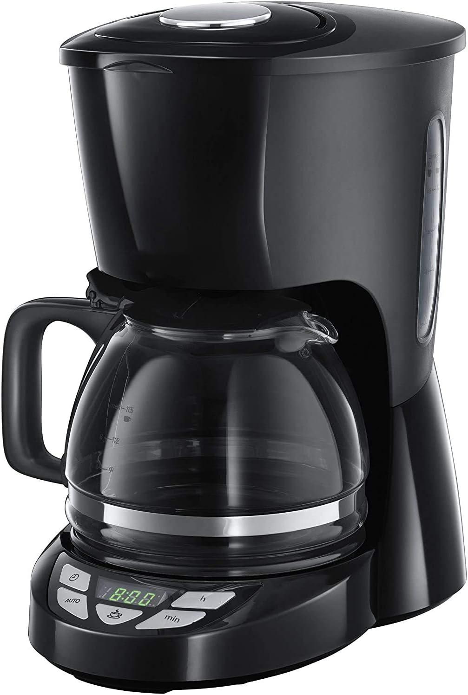 Filterkaffeemaschine 22620-56 Warmhalteplatte 1,25l Glaskanne bis 10 Tassen 975W Digitale Kaffeemaschine programmierbarer Timer Abschaltautomatik Tropf-Stopp