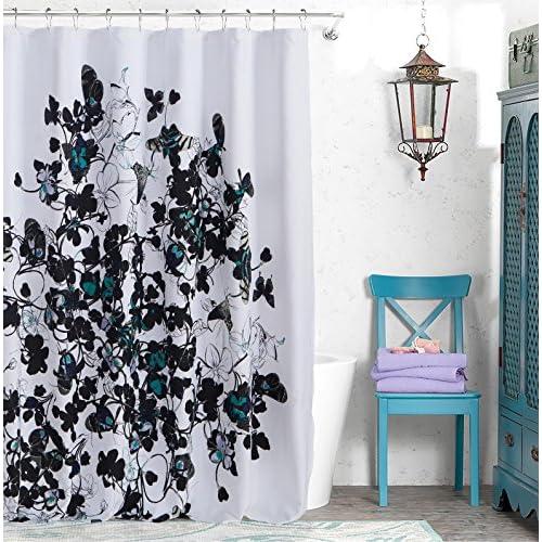 Nice Kensie Abby Satin Look Microfiber Shower Curtain hot sale
