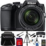 Nikon COOLPIX B500 16MP 40x Optical Zoom Digital Camera 16GB Bundle includes Camera, Bag, 16GB Memory Card, Reader, Wallet, AA Batteries + Charger, USB Cable, Tripod, DigiDeals4Less Cloth and MORE!