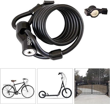 Candado Bici Alta Seguridad,Cilindro de Bloqueo de Aleación de ...