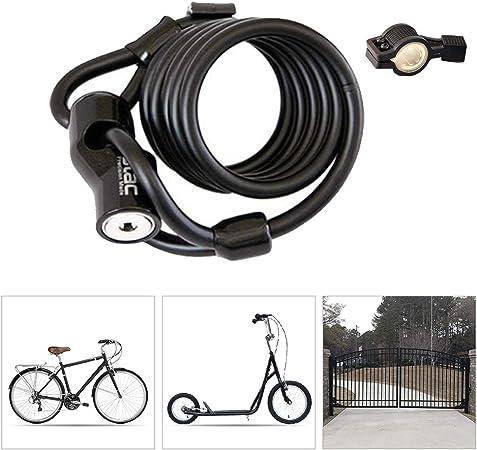 Candado Bici Alta Seguridad,Cilindro de Bloqueo de Aleación ...