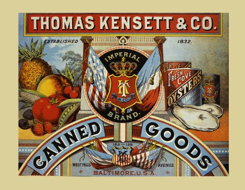 (Crate Label Canned Goods Fruits Tomato Pineapple Oyster Baltimore Maryland 16