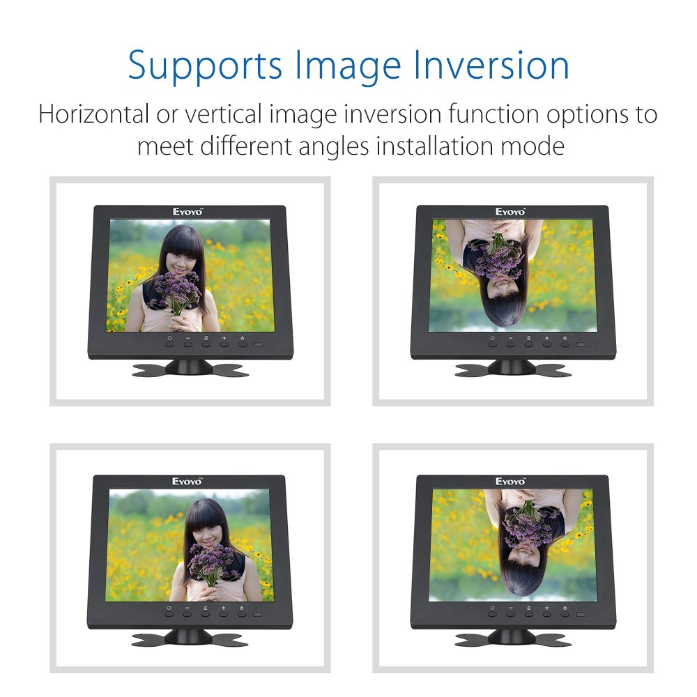 Eyoyo S801C 8 Inch Small HDMI BNC VGA Monitor LCD Screen 1024x768 4:3 Display Ypbpr Input Support Powerbank 5V Input by Eyoyo (Image #4)