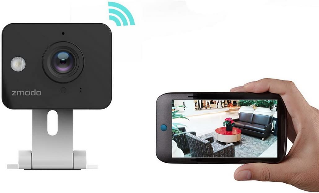 Zmodo ZH-IXY1D Mini Indoor 720p HD Wireless IP Camera for Home Security and Baby Monitor with 2 Way Audio, Night Visibility up to 30ft, Motion Detection and Super Wide Viewing Angle
