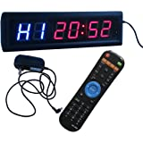 """Ledgital 1.8"""" High Character LED Gym Timer 34x10cm Multiple Crossfit Interval Clock Operated by Remote Control"""