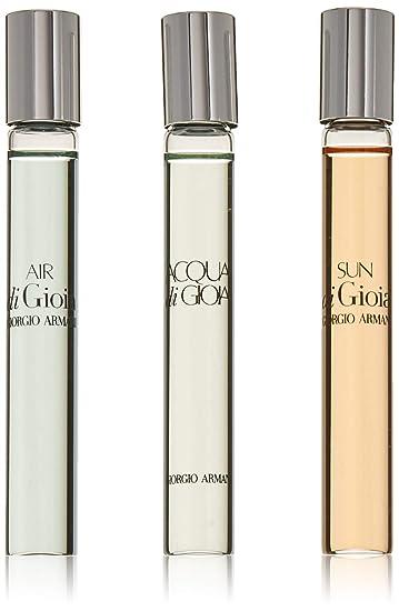 Amazoncom Giorgio Armani 3 Pc Eau De Parfum Rollerball Set Acqua