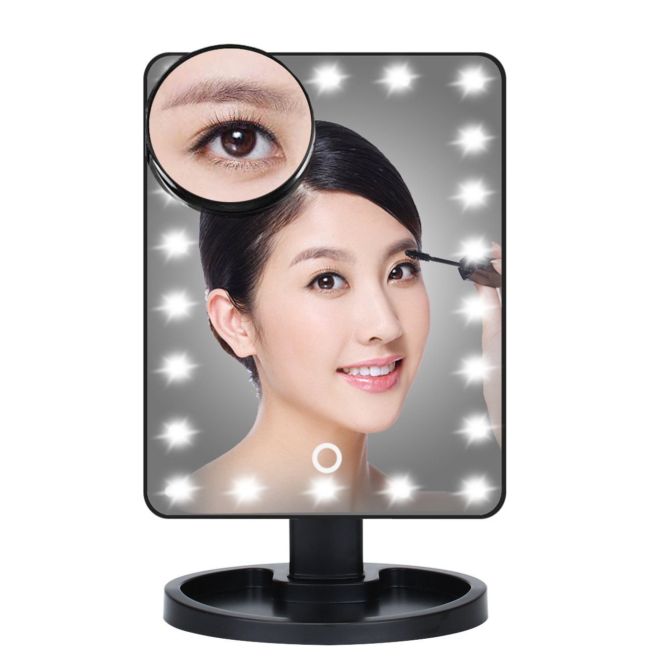 Waneway Lighted Vanity Mirror with 12 x 3W Dimmable LED