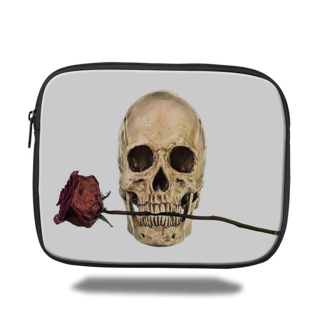 Amazon Ipad Baggothic Decorskull With Dry Red Rose In Teeth