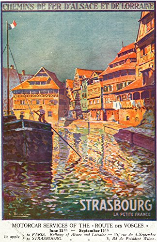 Strasbourg, France - View of a Man Steering a Ship; Alsace and Lorraine Railways (9x12 Art Print, Wall Decor Travel Poster)