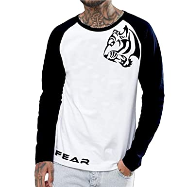 acb2ae4c AbeyKhamosh -Tiger Vector Design Full Sleeve Cotton T-Shirt - Graphic  Printed Quotes T-Shirt Round Neck: Amazon.in: Clothing & Accessories