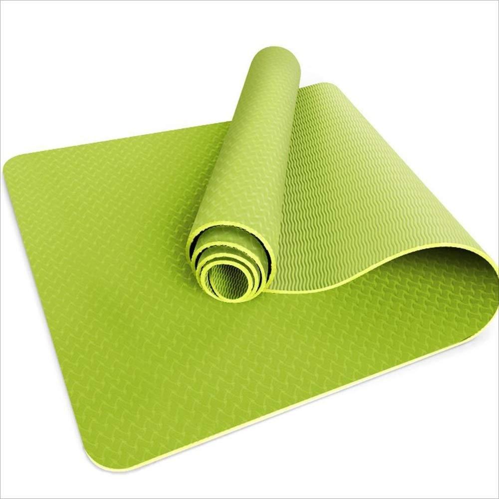 FU-ヨガマット- スポーツマット、ヨガ、ピラティス、シットアップ、ホーム、ジム、183cmx80cmX0.8cmのための高品質TPEノンスリップマルチパーパスフィットネスマット B07PLQ4717 Light green Light green