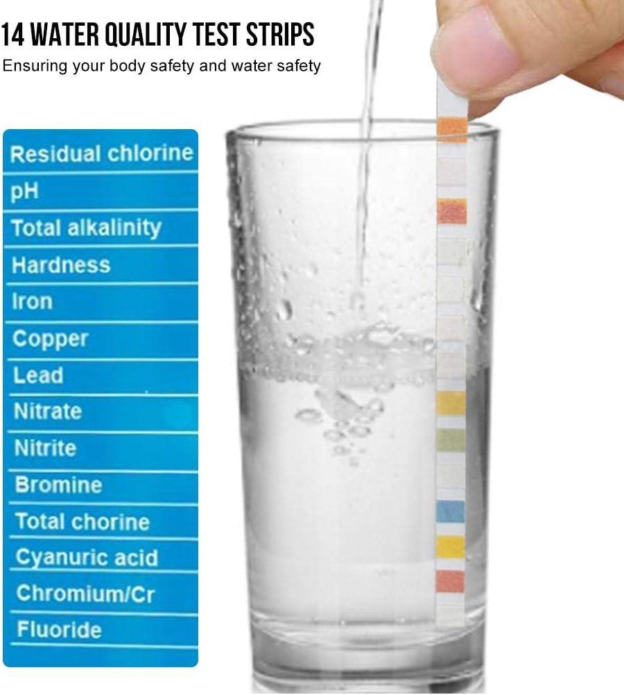 Cyanurs/äure Gesamth/ärte-Wasserchemietester 100 ST/ÜCKE Gesamtalkalinit/ät DonLucancy Pool-Teststreifen Whirlpools mit Whirlpool-Wasserqualit/äts-Teststreifen f/ür Gesamtchlor freies Chlor//Brom