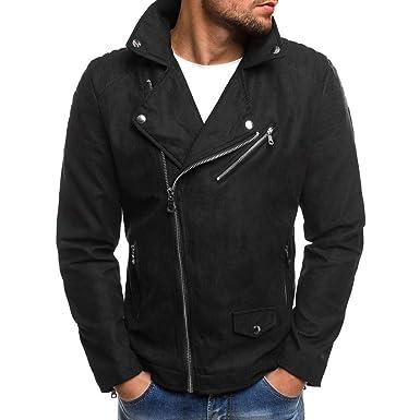 tout neuf 778ab e16a4 Perfecto en Daim Suède Homme,Overdose Hiver Blouson Motard Soldes Vestes  Casual Outwear Faux Leather Jacket