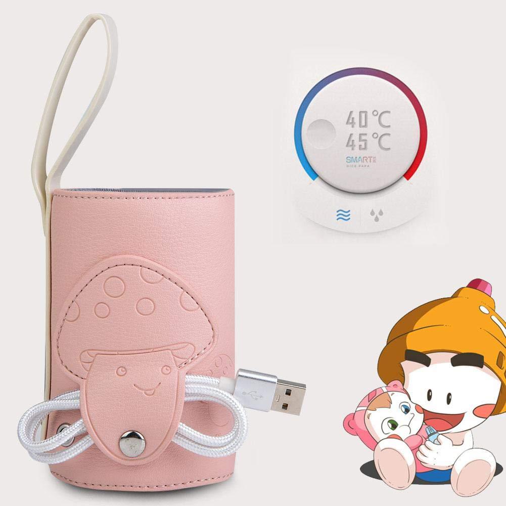 Portable Bottle Warmer USB Milk Bottle Warm Heat Keeper Baby Milk Water Drink Warm Keeper Travel Storage Insulation Thermostat Blue