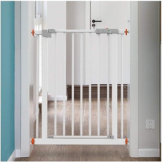 HN-Baby Gate Libre De Perforación Telescópica Puertas De Seguridad del Bebé For Escaleras Extra Ancho Valla Valla Valla Mascotas Dual Lock Cierre Automático (Color : High78CM, Size : 194-201cm): Amazon.es: Hogar