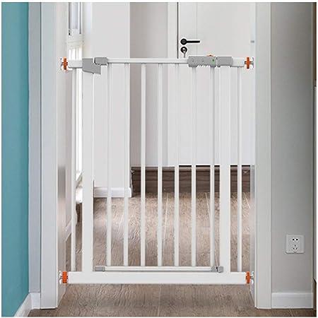 HN-Baby Gate Libre De Perforación Telescópica Puertas De Seguridad del Bebé For Escaleras Extra Ancho Valla Valla Valla Mascotas Dual Lock Cierre Automático (Color : High78CM, Size : 124-131cm): Amazon.es: Hogar