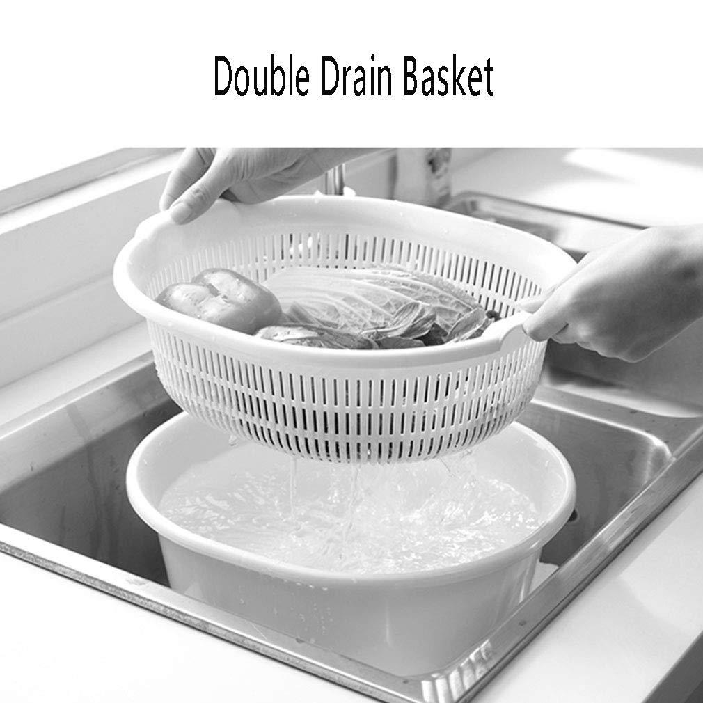 Cr/épines de lavage de nourriture de cuvette polyvalente de panier de drain pour le stockage de fruit de l/égumes de cuisine Couleur : Green