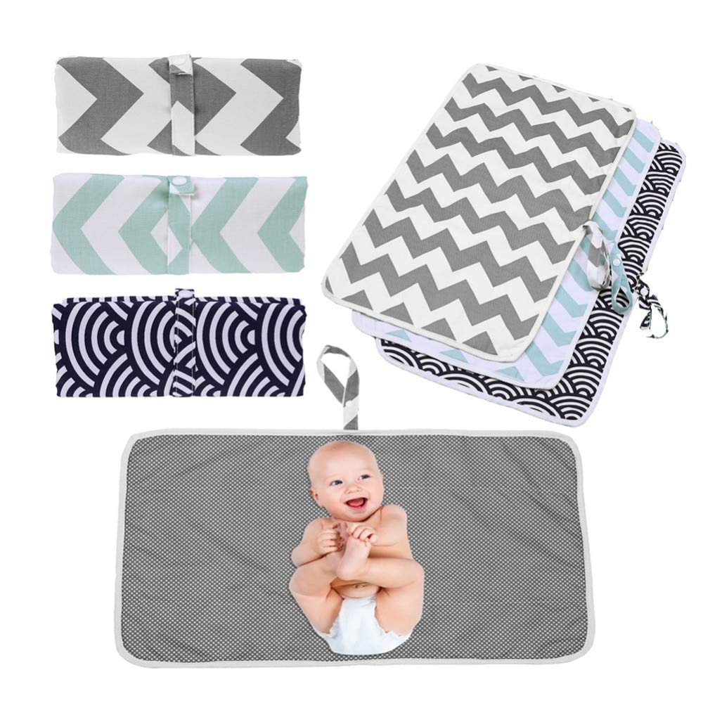 59X35cm Portable Baby Diaper Pad Changing Nappy Waterproof Washable Travel Mat