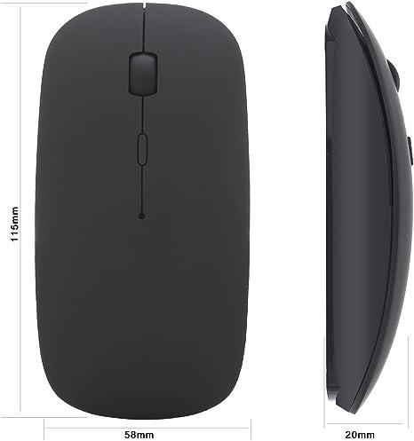 reetec 2,4 gHz USB inalámbrico teclado y ratón Combo Set Bundle para Windows 10/8/7/Vista/XP, Notebook, Laptop, Smart TV