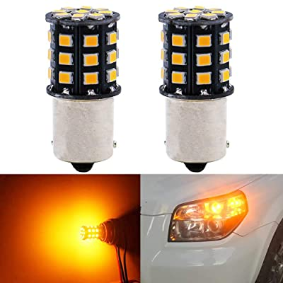 BlyilyB 2-Pack 9-30V 1156 BAU15S 7507 PY21W 2641A High Brightness Low Power Amber Yellow LED Bulbs Replacement For Turn Signal Lights: Automotive