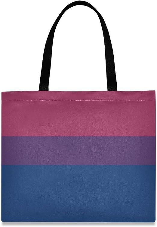 Bolso de hombro divertido de gran capacidad cuadrada Bandera de sexualidad bisexual Bolso de amor Hombro 19.7 X 16.9in Impresión para niñas Damas Compras Trabajo diario: Amazon.es: Hogar