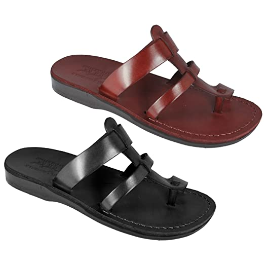 Brown Genuine Leather Roman Jesus Sandals #542 sizes US Womens 6-14 EU 36-46 (US Womens 9.5 EU 41)